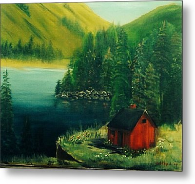 Cabin In The Catskills Metal Print