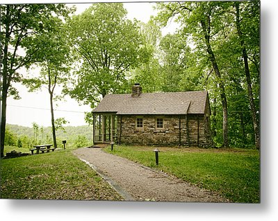 Cabin In The Forest Metal Print