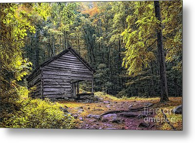 Metal Print featuring the photograph Cabin In The Mountains by Gina Cormier