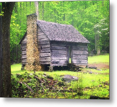 Cabin In The Smokies Metal Print by Marty Koch