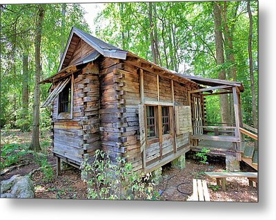 Metal Print featuring the photograph Cabin In The Woods by Gordon Elwell