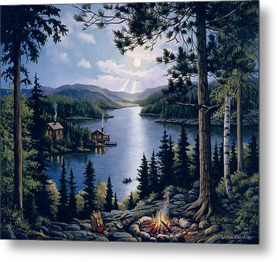 Cabin In The Woods Metal Print by John Zaccheo