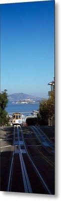 Cable Car On Tracks, Alcatraz Island Metal Print