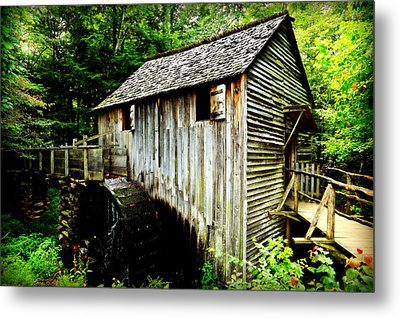 Cable Mill - Cades Cove Metal Print by Stephen Stookey