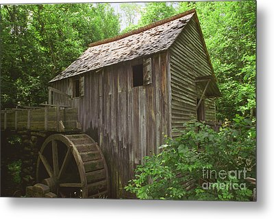 Cable Mill In Smoky Mtns Metal Print by Teri Brown