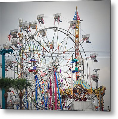 Cables Wires And Wheels Oh Boy Metal Print by Judy Hall-Folde