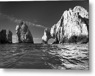 Cabo In Black And White Metal Print