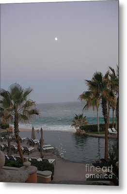 Metal Print featuring the photograph Cabo Moonlight by Susan Garren