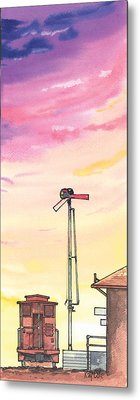 Caboose Metal Print by Ray Cole