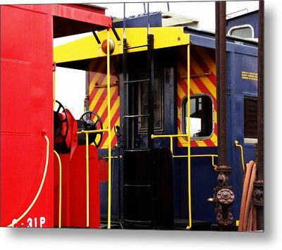 Cabooses Metal Print by Rodney Lee Williams