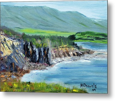 Cabot Trail Coastline Metal Print