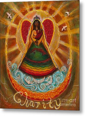 Metal Print featuring the painting Cachita Madonna by Deborha Kerr