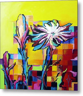 Cactus Blossom Metal Print by Jodie Marie Anne Richardson Traugott          aka jm-ART