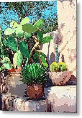 Cactus Corner Palm Springs Metal Print by William Dey