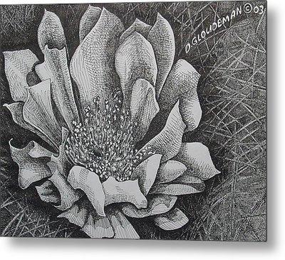 Cactus Flower Metal Print by Denis Gloudeman