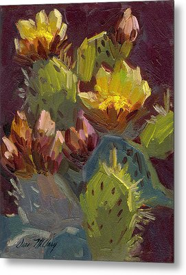 Cactus In Bloom 1 Metal Print by Diane McClary