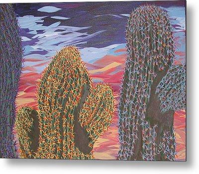 Cactus Of Color 1 Metal Print by Marcia Weller