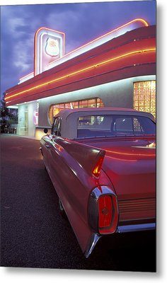 Caddy At Diner Metal Print by Christian Heeb