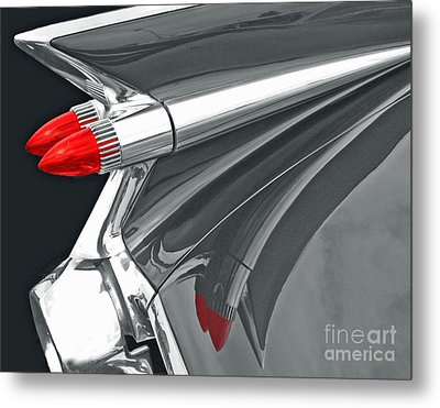 Caddy Classic Black And White Metal Print