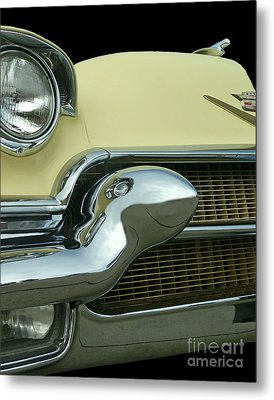 Metal Print featuring the photograph Caddy Classic Yellow-1 by Cheryl Del Toro