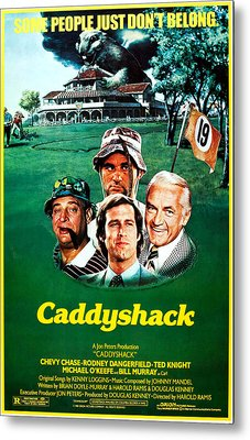 Caddyshack, Us Poster Art, From Left Metal Print by Everett