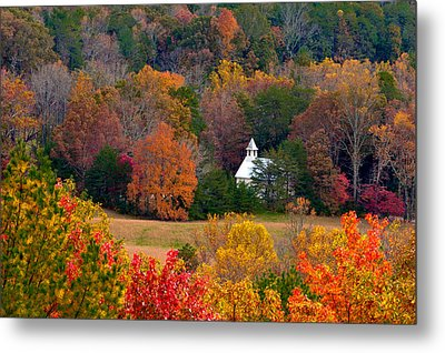 Cades Cove Church Metal Print