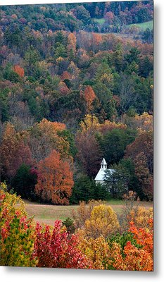 Cades Cove Methodist  Church Metal Print