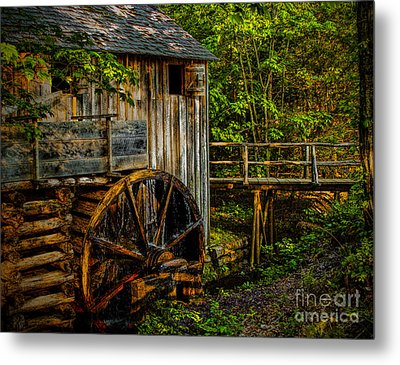 Cades Cove Mill Painted Metal Print