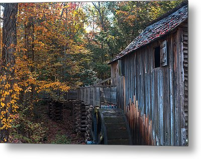 Cades Cove Mill Metal Print by Steve Gadomski