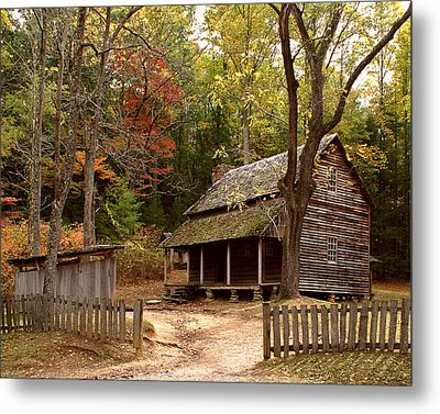 Cades Cove Mountain Home Metal Print