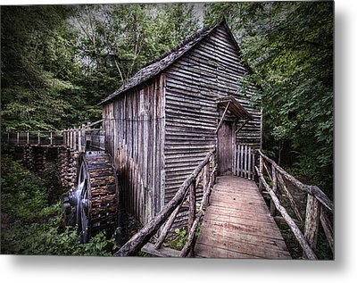 Cades Cove Rustic Cable Mill  Metal Print by Thomas Schoeller