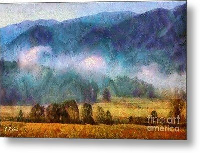 Cades Cove Tennessee  Metal Print by Elizabeth Coats