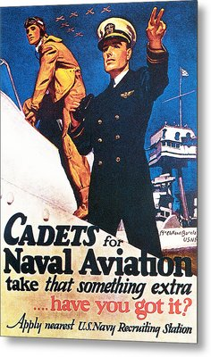 Cadets For Naval Aviation Take That Metal Print