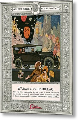 Cadillac 1920 1920s Usa Cc Cars Metal Print by The Advertising Archives