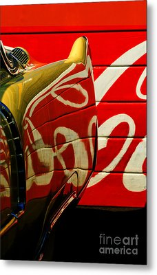 Cadillac And Coke Metal Print