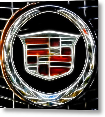 Cadillac Emblem B Metal Print