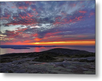 Cadillac Mountain Sunrise 2 Metal Print by Stephen  Vecchiotti