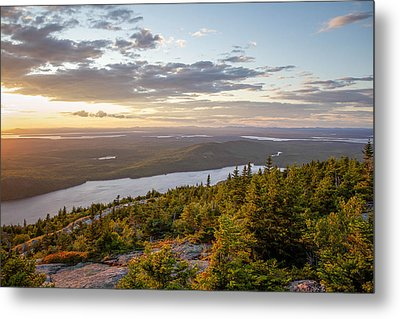 Metal Print featuring the photograph Cadillac Mountain Sunset  by Trace Kittrell