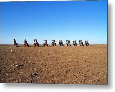 Cadillac Ranch. Metal Print