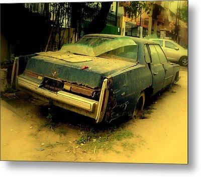 Metal Print featuring the photograph Cadillac Wreck by Salman Ravish