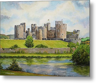 Caerphilly Castle Metal Print by Andrew Read