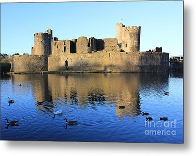 Caerphilly Castle Metal Print by Vicki Spindler