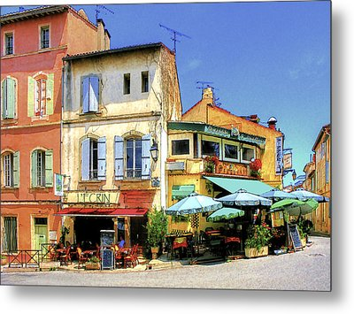 Cafe Corner Metal Print by Douglas J Fisher