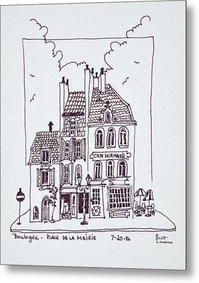 Cafe De La Mairie In Old Town Metal Print