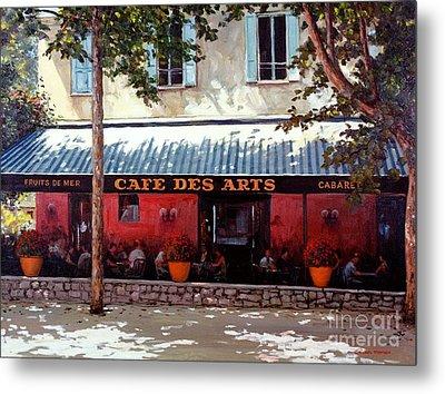 Cafe Des Arts   Metal Print by Michael Swanson