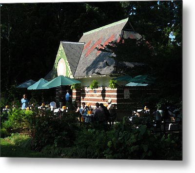 Cafe In The Trees Metal Print