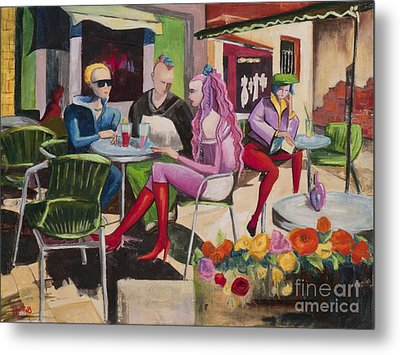 Cafe Marseille Metal Print