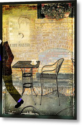 Cafe Martin Metal Print
