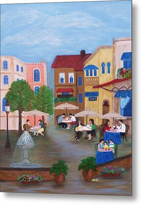 Cafe' Moments Metal Print by Anke Wheeler