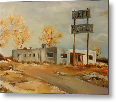 Cafe Motel Metal Print